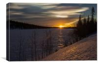 Sunset in Sweden, Canvas Print