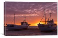 Danish sunset, Canvas Print