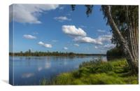 Swedish lake, Canvas Print