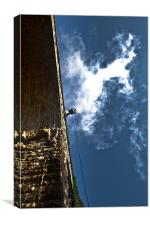 Abseil at Dromore Viaduct, Canvas Print