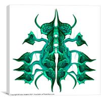 Abstract Beetle - Pitcher Plant, Canvas Print