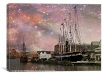 SS Great Britain - Midnight Harbour, Canvas Print