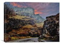 Cheddar Gorge - A winters tale., Canvas Print