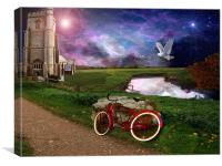 Late for evening Prayer, Canvas Print