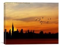 Another New York Sunrise, Canvas Print