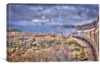 View's From The Train Window - 1, Canvas Print