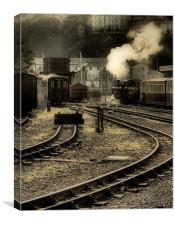 Days Of Steam., Canvas Print