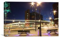 Sheffield city centre roundabout, Canvas Print