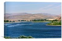 The Snake River., Canvas Print