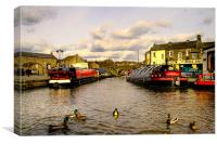 Canal Junction, Canvas Print