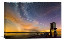 ISS Passing over Lindisfarne Causeway, Canvas Print