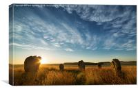 Duddo Stone Circle, Northumberland., Canvas Print