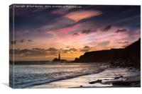 IRIDESCENT CLOUDS OVER ST. MARY'S LIGHTHOUSE. , Canvas Print