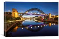 Tyne Bridge Dawn, Canvas Print