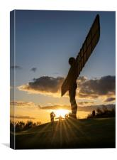 Angel of the North Sunset, Canvas Print