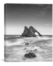 BOW FIDDLE ROCK  SCOTLAND MONO, Canvas Print
