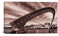 Tilted Millennium Bridge, Canvas Print