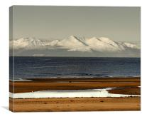 Snow topped Arran, Canvas Print