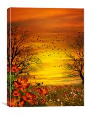 Orange Meadow, Canvas Print