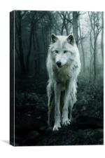 The White Wolf, Canvas Print