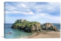 Saint Catherines Island Tenby, Canvas Print