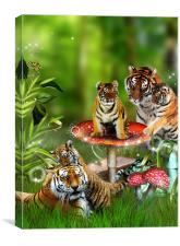 Tigers, Toadstools and Picnics - Oh My!, Canvas Print