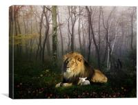 So the Lion Fell in Love with the Lamb, Canvas Print