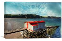 Tenby Lifeboat House, Canvas Print