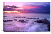 Guille Purple Sunset, Canvas Print