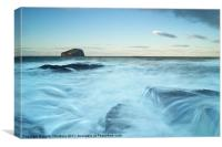 Bass Rocks and wild seas, Canvas Print