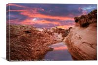 Red Rock Sunset, Canvas Print