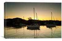Musselburgh Harbour & Quay Side, Canvas Print