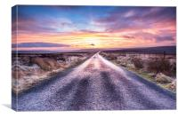 The Road to the Borders, Canvas Print