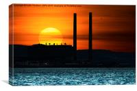 Cockenzie Power Station Sunset, Canvas Print