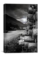Logs at Glen Etive, Canvas Print