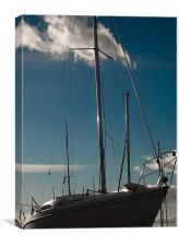Boat with Sky, Canvas Print