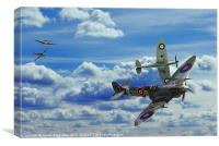 Battle in the Skies, Canvas Print