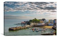 Tenby Harbour at Dusk, Canvas Print