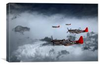 Red Storm, Canvas Print
