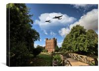 Lancaster over Tattershall, Canvas Print