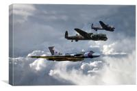 Bomber Tour , Canvas Print