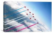 The RAF Red Arrows , Canvas Print