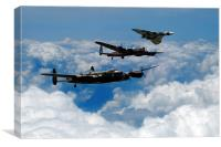 Vulcan and Lancasters , Canvas Print