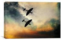 Supermarine Spitfires , Canvas Print