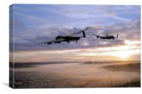 Lancasters Over The Valley , Canvas Print