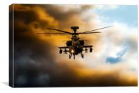 Apache Hunter , Canvas Print