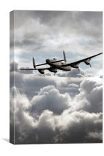 Lancaster In The Clouds , Canvas Print