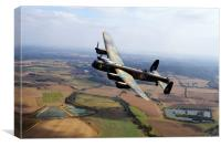 Lincolnshire Bomber , Canvas Print
