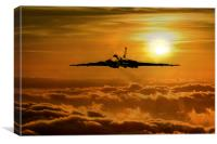 Vulcan Flies Home, Canvas Print