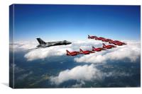 Flying with XH558 and The Reds, Canvas Print